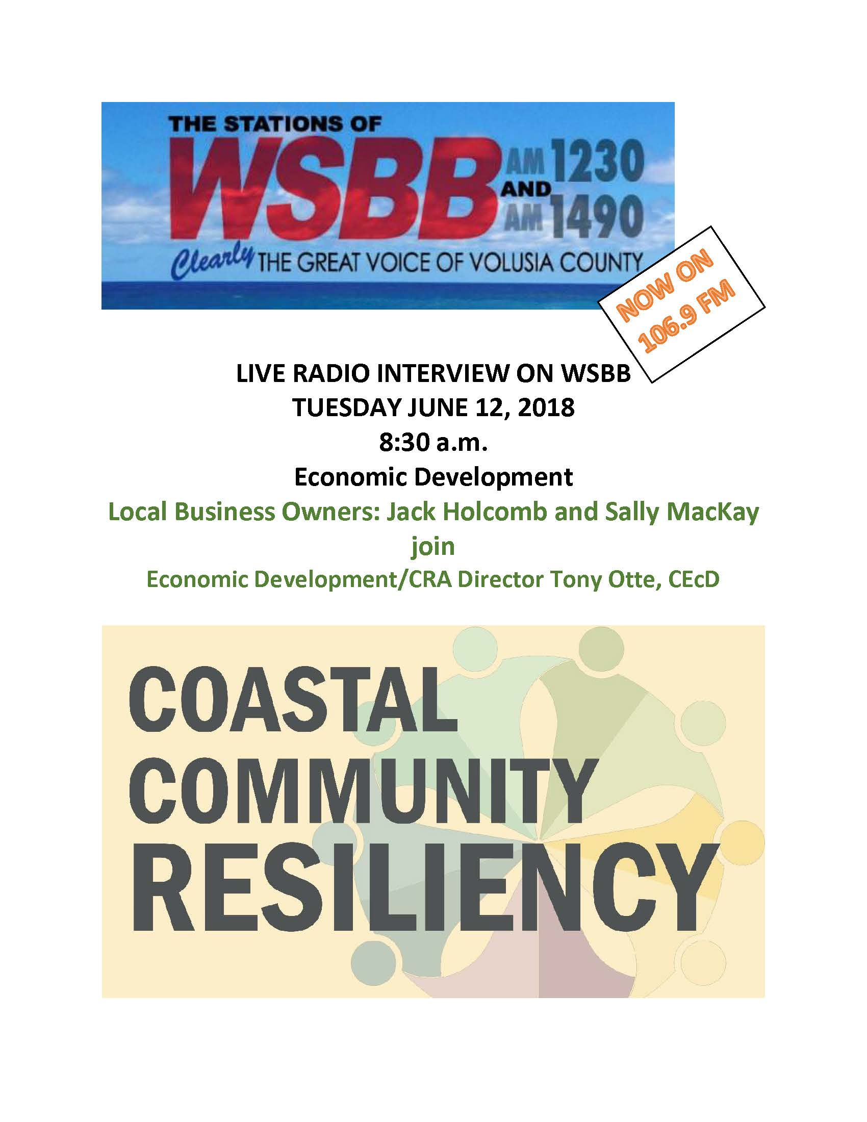 LIVE RADIO INTERVIEW ON WSBB 6.12.18