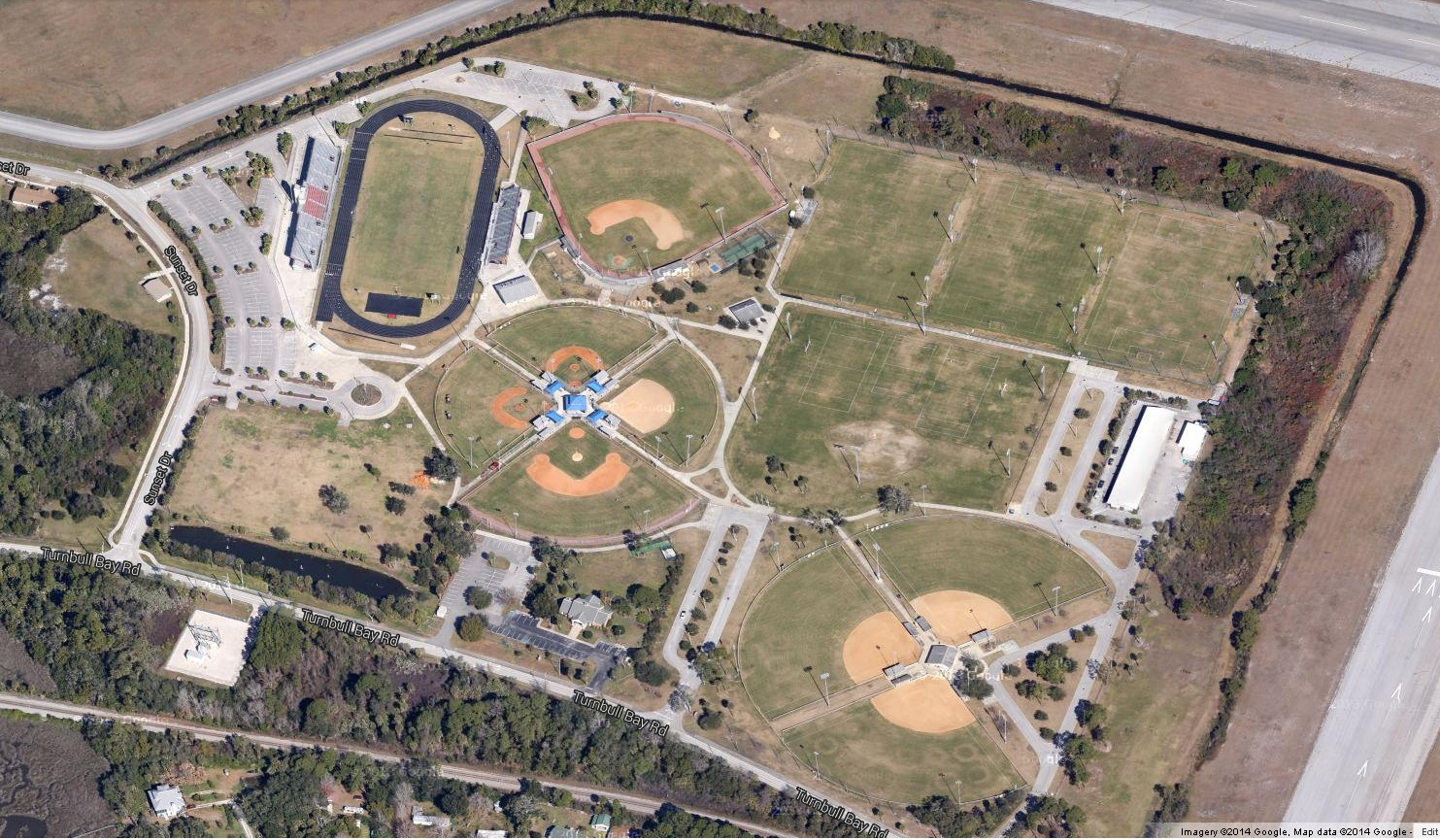 Sports Complex Aerial of Fields