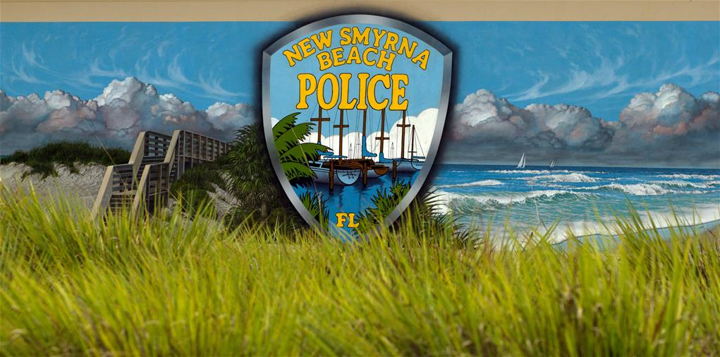NSB Police Patch on building